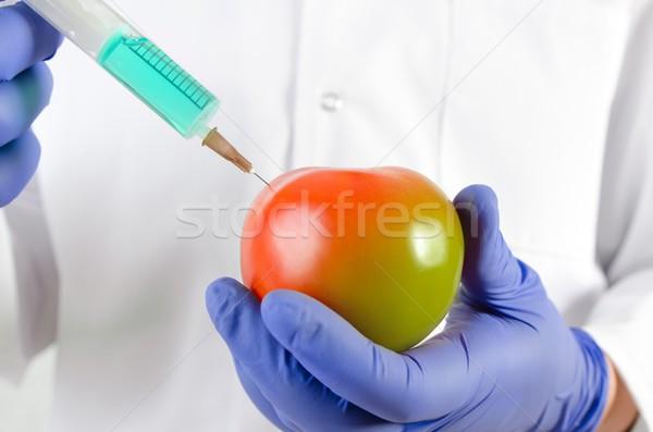 Technicien seringue génétique modification fruits légumes Photo stock © simpson33