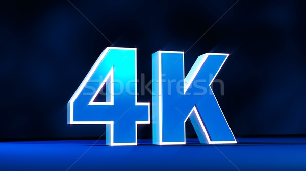 4K Ultra High Definition resolution three-dimensional glow text Stock photo © simpson33