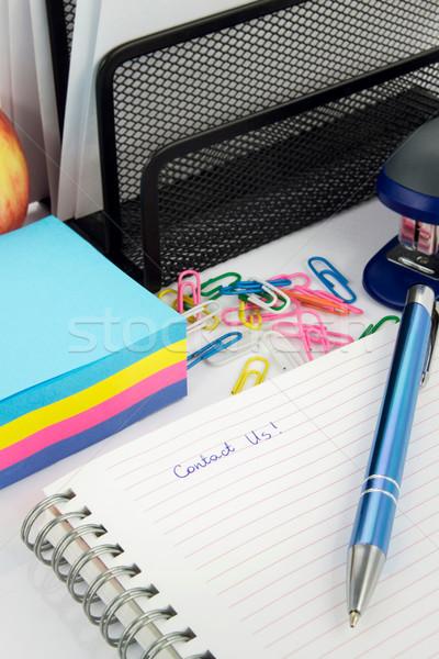 キャプション 帳 オフィス 学校 リンゴ ストックフォト © simpson33