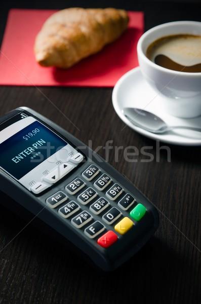クレジットカード 支払い 販売 レストラン 銀行 マシン ストックフォト © simpson33