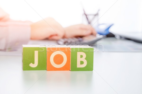 JOB word with colorful blocks Stock photo © simpson33