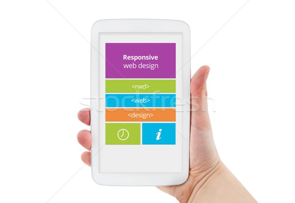 Responsive web design on mobile tablet pc device Stock photo © simpson33