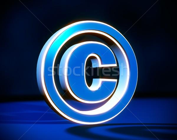 Derechos de autor signo 3d objeto perspectiva resumen Foto stock © simpson33