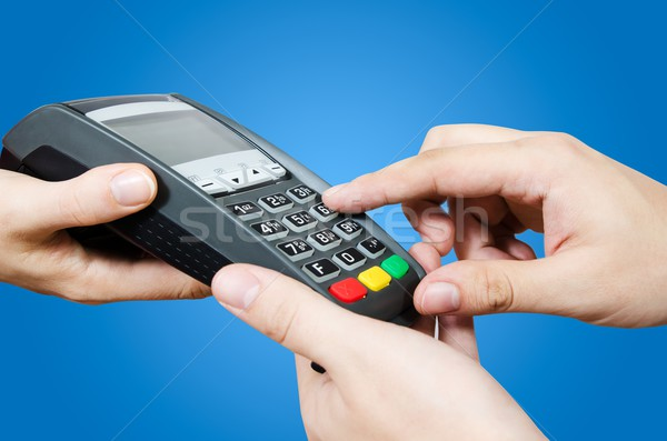 Hand creditcard verkoop business man financieren Stockfoto © simpson33