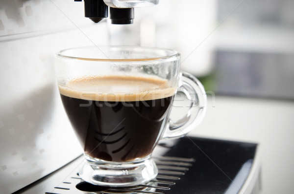 Home professional coffee machine with espresso cup. Stock photo © simpson33