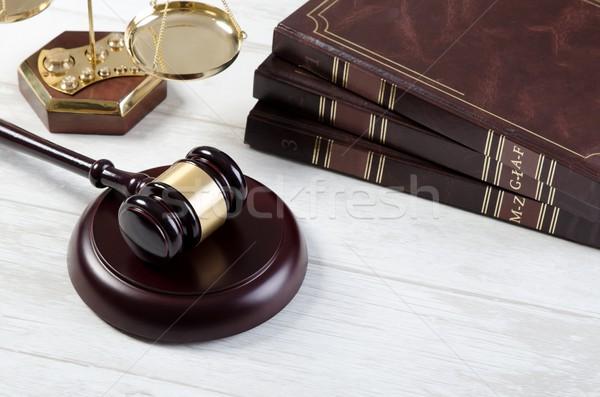 прав молоток правосудия символ адвокат суд Сток-фото © simpson33