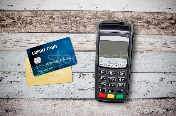 ödeme üst görmek kredi kartı iş Stok fotoğraf © simpson33