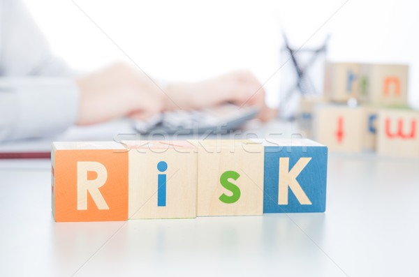 RISK word with colorful blocks Stock photo © simpson33
