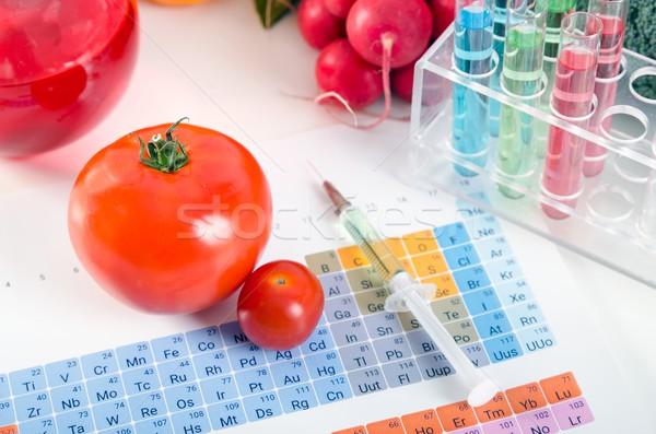 トマト シリンジ テスト 室 周期表 ストックフォト © simpson33