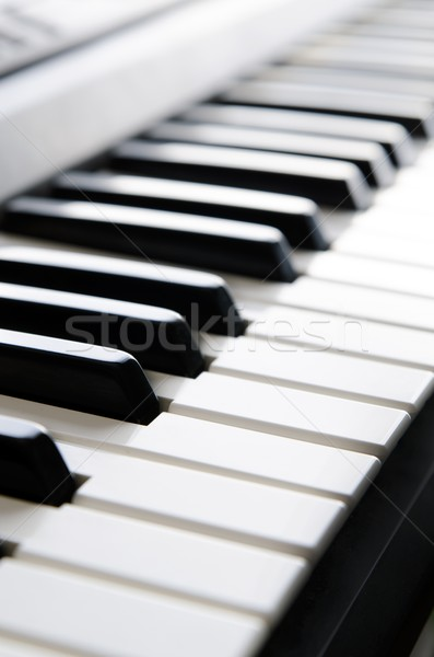 Pianotoetsen elektronische toetsenbord muziekinstrument instrument Stockfoto © simpson33