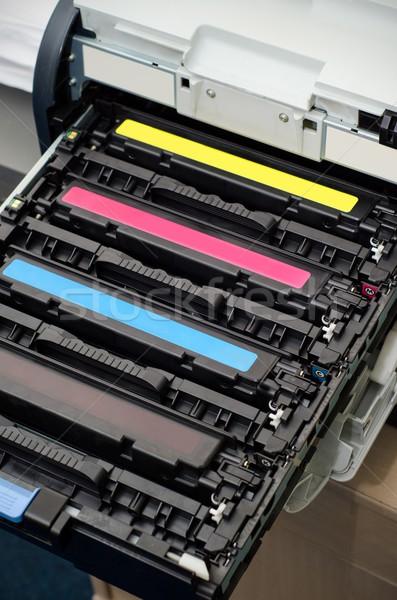 цвета лазерного принтер бизнеса служба технологий Сток-фото © simpson33
