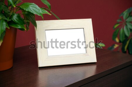 Silver photo frame on dresser Stock photo © simpson33