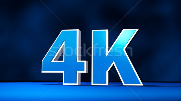 4K Ultra High Definition resolution three-dimensional text Stock photo © simpson33