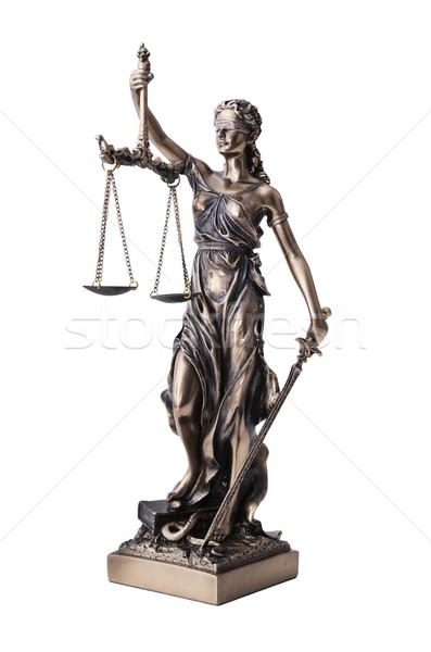 Stock photo: Themis with scale and sword isolated on white