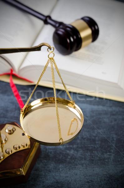 Justice droit marteau marteau avocat livre Photo stock © simpson33