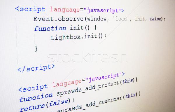 Stockfoto: Code · taal · lcd · scherm · abstract · zwarte