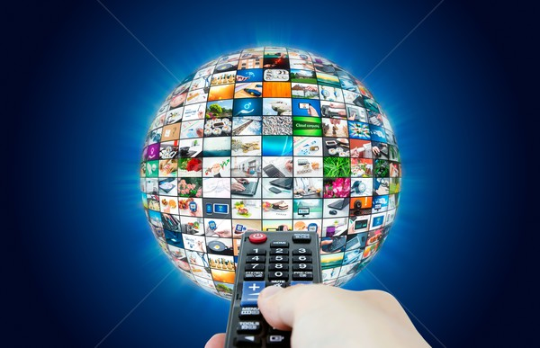 Television broadcast multimedia sphere abstract composition Stock photo © simpson33