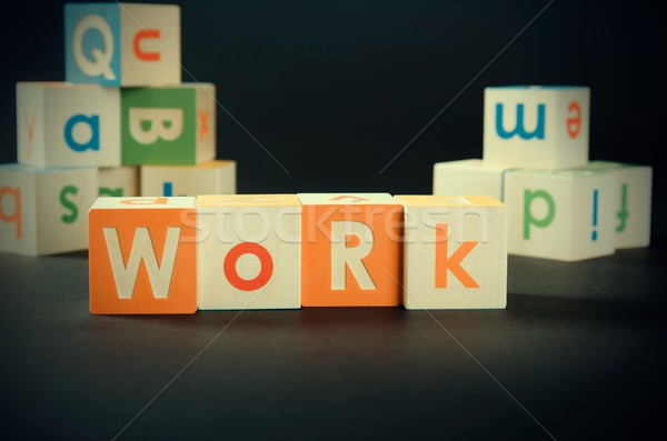 WORK word with colorful blocks Stock photo © simpson33