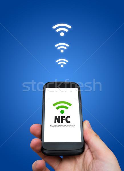 Near field communication. NFC banking payment technology Stock photo © simpson33
