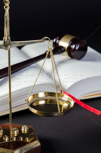Justicia ley martillo martillo abogado libro Foto stock © simpson33