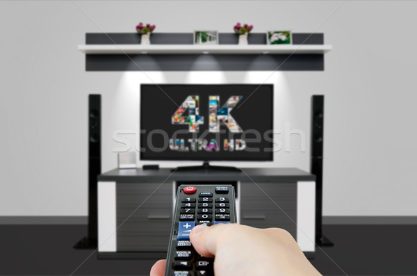 TV ultra HD. 4K television resolution technology. Stock photo © simpson33
