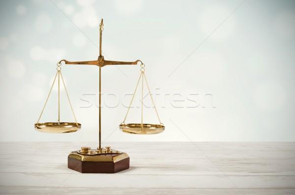 Law scale justice symbol Stock photo © simpson33