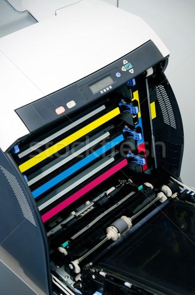Szín lézer nyomtató technológia piros nyomtatott Stock fotó © simpson33