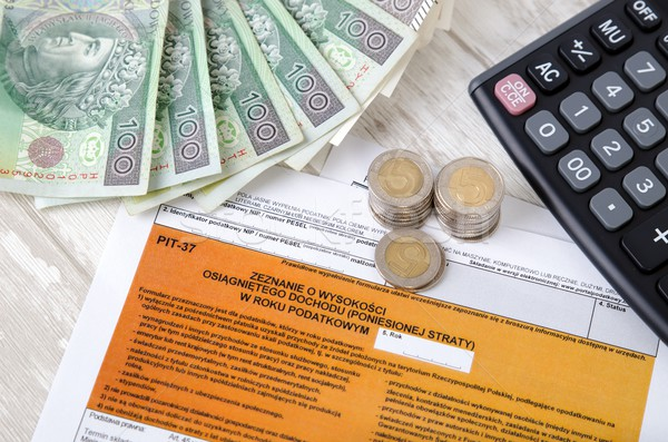 Polish tax form with cash Stock photo © simpson33