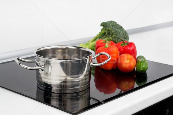 Pot sebze modern mutfak soba dizayn Stok fotoğraf © simpson33