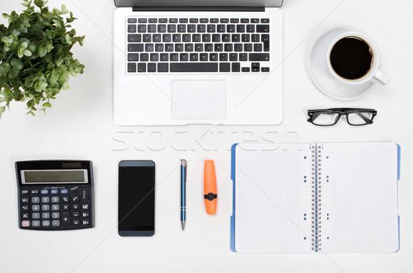 бизнеса белый столе служба Top мнение Сток-фото © simpson33