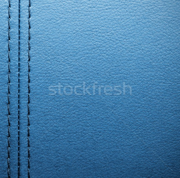 Blue leather with seam Stock photo © simpson33