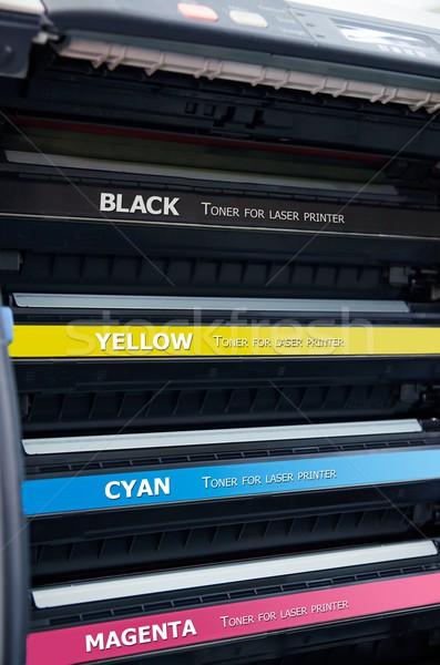 цвета лазерного принтер технологий красный печать Сток-фото © simpson33