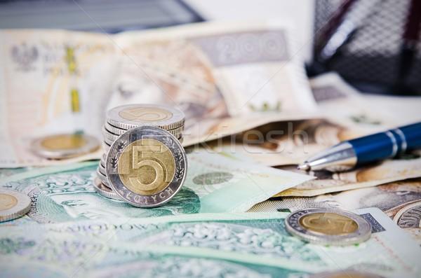 Polish money close up business composition Stock photo © simpson33