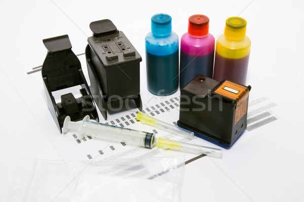 Ink refill set for printer Stock photo © simpson33