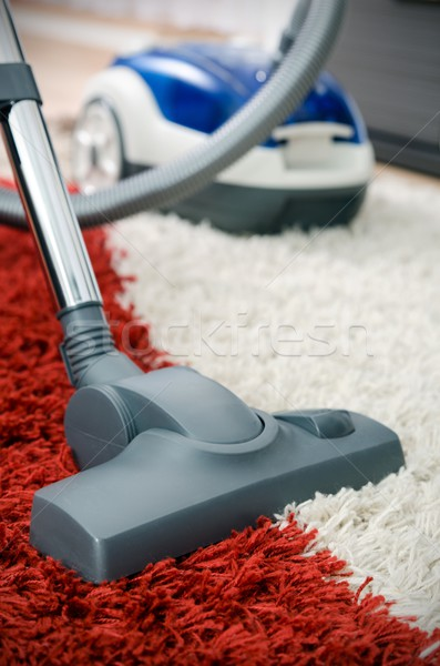 Vacuum cleaner on shaggy carpet inside room Stock photo © simpson33