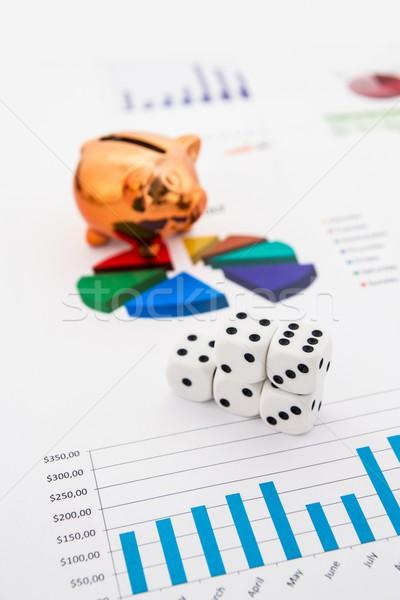 Stock photo: Saving money. Gambling concept