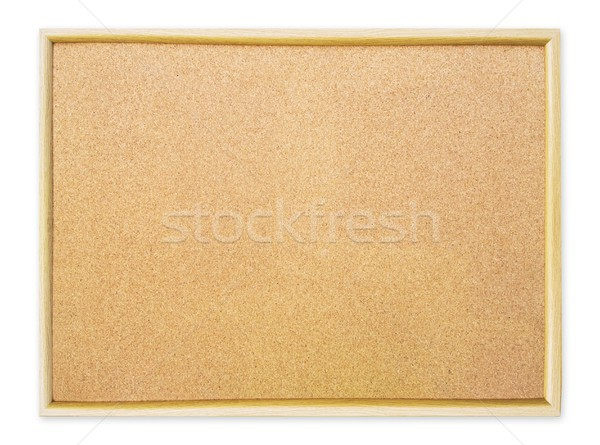 Blank cork pin board on white background Stock photo © simpson33