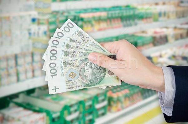 Range of Polish banknotes. Shopping at the supermarket Stock photo © simpson33