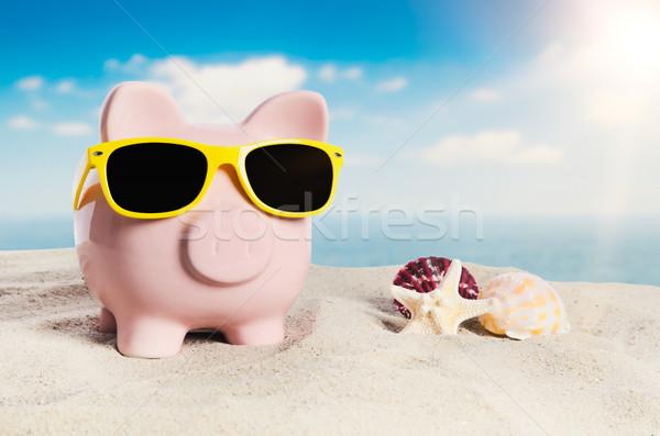 貯金 休暇 休日 経済 サングラス ビーチ ストックフォト © simpson33
