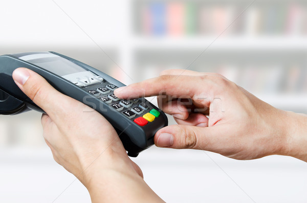 Credit card swipe through terminal for sale Stock photo © simpson33