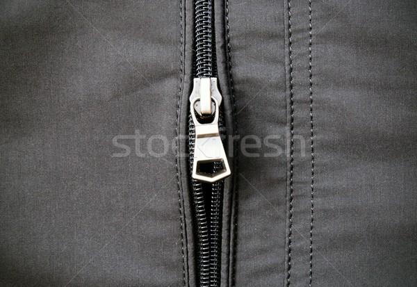 Zip on leather jacket Stock photo © simpson33