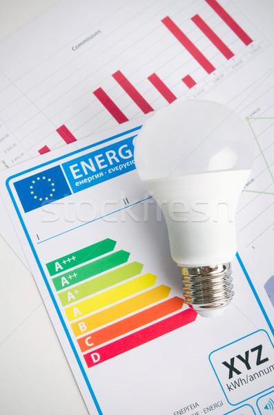 Ampoule efficacité énergétique graphique économique lumière bar Photo stock © simpson33