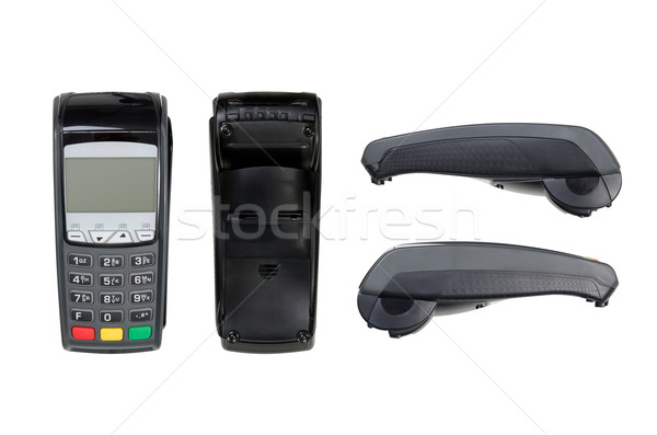 Payment terminal isolated on white. Top, bottom, sides, texture Stock photo © simpson33