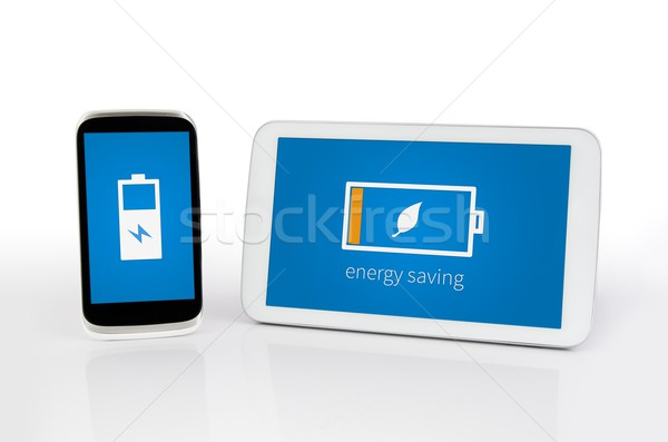 Mobile devices with energy saving mode Stock photo © simpson33