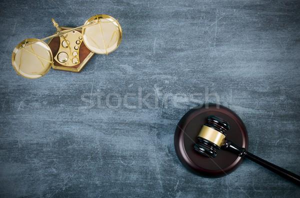 Młotek skali górę widoku prawa prawnik Zdjęcia stock © simpson33
