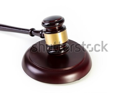 Wooden gavel on white background Stock photo © simpson33