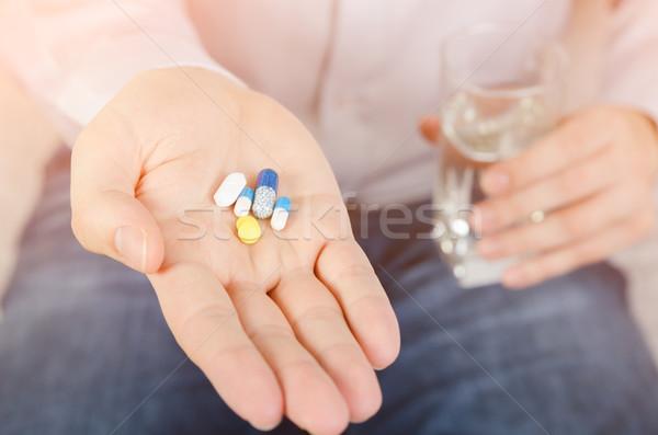 人 異なる 薬 錠剤 手のひら ストックフォト © simpson33