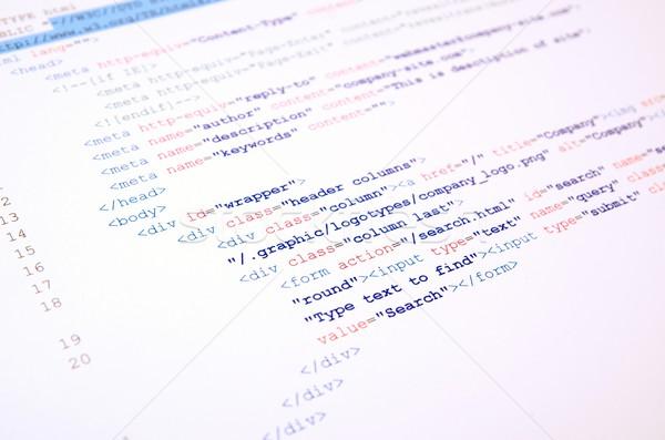 Код html язык белый аннотация экране Сток-фото © simpson33