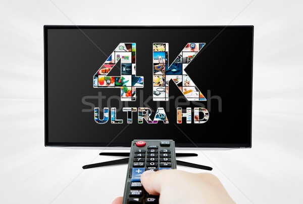 TV ultra HD. 4K television resolution technology Stock photo © simpson33