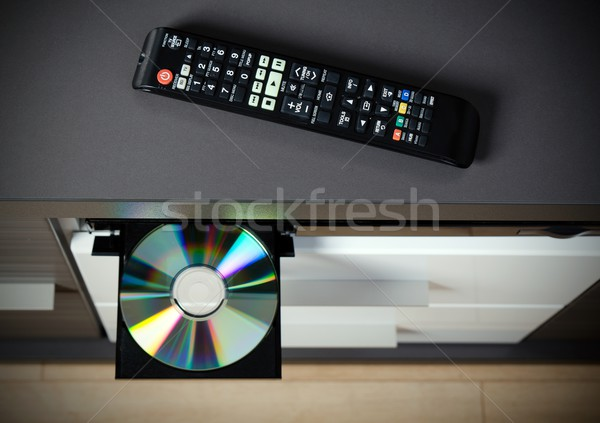 Blu-ray or DVD player with inserted disc Stock photo © simpson33